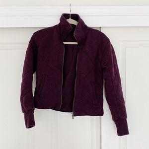 Lululemon dark purple bomber jacket
